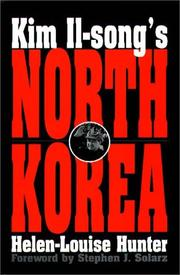 Cover of: Kim Il-song's North Korea | Helen-Louise Hunter