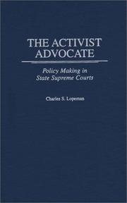 Cover of: The activist advocate
