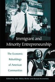 Cover of: Immigrant and Minority Entrepreneurship |