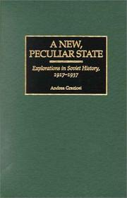 Cover of: new, peculiar state | Andrea Graziosi