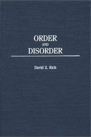 Cover of: Order and Disorder: