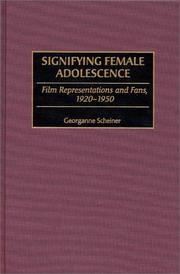 Cover of: Signifying female adolescence