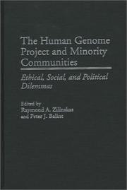 Cover of: The Human Genome Project and Minority Communities |