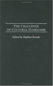 Cover of: The Challenge of Cultural Pluralism: