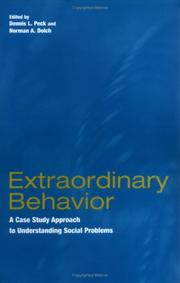 Cover of: Extraordinary Behavior |