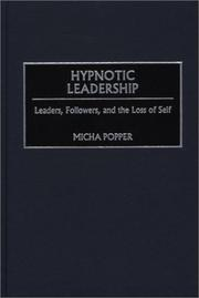 Cover of: Hypnotic Leadership