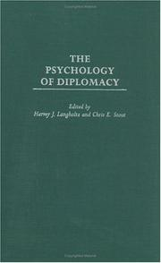Cover of: The Psychology of Diplomacy (Psychological Dimensions to War and Peace) |
