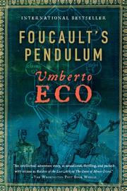 Cover of: Foucault's Pendulum by Umberto Eco