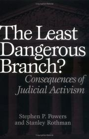 Cover of: The least dangerous branch?