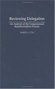 Cover of: Reviewing delegation