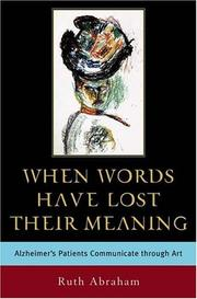 Cover of: When Words Have Lost Their Meaning | Ruth Abraham