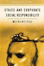 Cover of: Ethics and Corporate Social Responsibility
