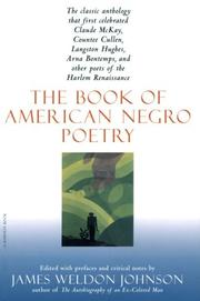 Cover of: The Book of American Negro Poetry