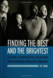 Cover of: Finding the Best and the Brightest | Peg Thoms