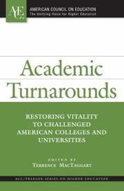 Cover of: Academic Turnarounds | Terrence MacTaggart