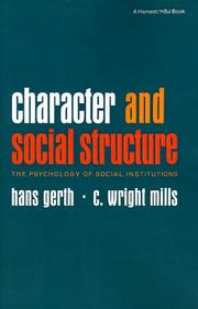 Cover of: Character and Social Structure | C. Wright Mills