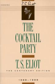 Cover of: The cocktail party: a comedy