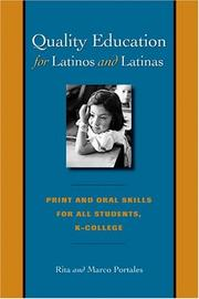 Cover of: Quality education for Latinos and Latinas