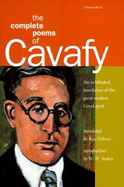 Cover of: The complete poems of Cavafy