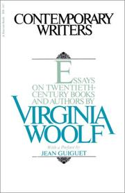 Cover of: Contemporary writers | Virginia Woolf