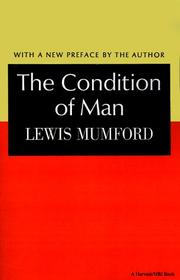 Cover of: The condition of man