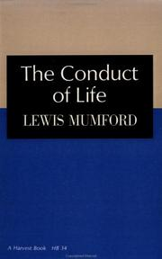 Cover of: The Conduct of Life (Harvest Book, Nb 34)