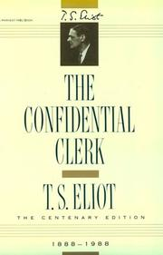 Cover of: The confidential clerk: a play.