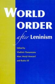 Cover of: World Order After Leninism |