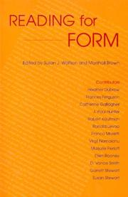 Reading for Form (A Robert Heilman Book) by
