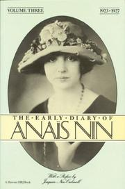 Cover of: The Early Diary of Anais Nin, Vol. 3 (1923-1927) | AnaГЇs Nin