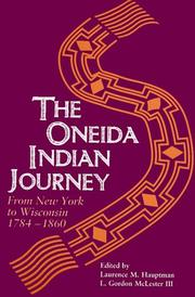 Cover of: The Oneida Indian journey