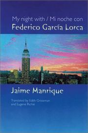 Cover of: My Night with Federico García Lorca | Jaime Manrique