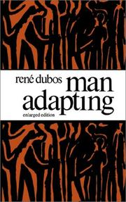 Cover of: Man adapting