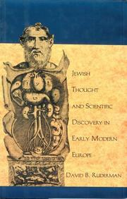 Cover of: Jewish thought and scientific discovery in early modern Europe | David B. Ruderman