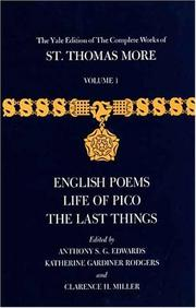Cover of: The Yale Edition of The Complete Works of St. Thomas More