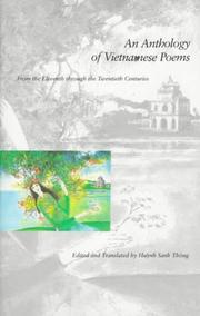 Cover of: An anthology of Vietnamese poems | edited and translated by Huỳnh Sanh Thông.