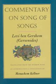 Cover of: Commentary on Song of songs
