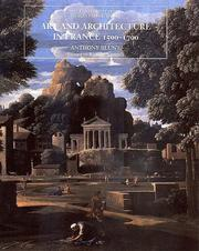 Cover of: Art and architecture in France, 1500-1700