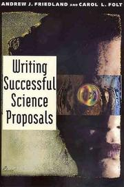 Cover of: Writing successful science proposals
