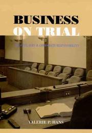 Cover of: Business on Trial | Valerie P. Hans