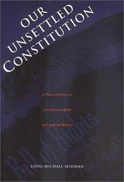 Cover of: Our unsettled constitution