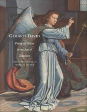 Cover of: Gerard David A Purity of Vision in an Age of Transition | Maryan W. Ainsworth