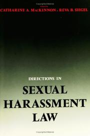 Directions in Sexual Harassment Law by