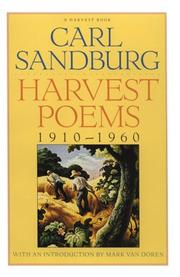 Cover of: Harvest poems, 1910-1960: With an introd. by Mark Van Doren.