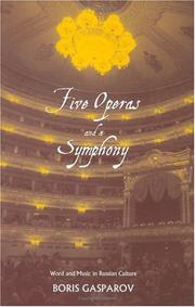 Cover of: Five operas and a symphony