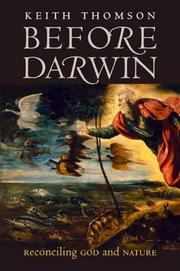 Cover of: Before Darwin