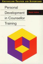 Cover of: Personal Development in Counsellor Training (Counsellor Trainer & Supervisor)