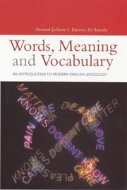 Words, Meaning, and Vocabulary: An Introduction to Modern Lexicology