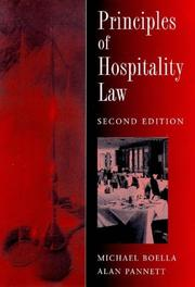 Principles of Hospitality Law by Alan Pannett, Mike Boella
