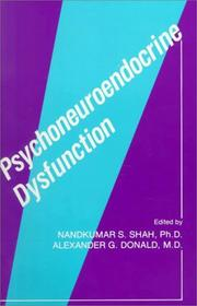 Cover of: Psychoneuroendocrine dysfunction |